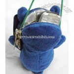 Satchel blue Stuffed bear