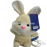 Satchel yellow stuffed rabbit