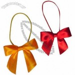 Satin Ribbon Bow With Elastic Loop