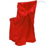 Satin Universal Chair Cover Red
