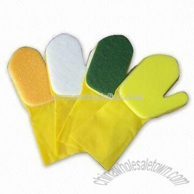 Scouring Pad Cleaning Gloves