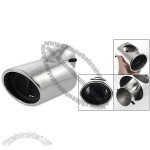 Screw Install Silver Tone Exhaust Tip Muffler for Car Auto