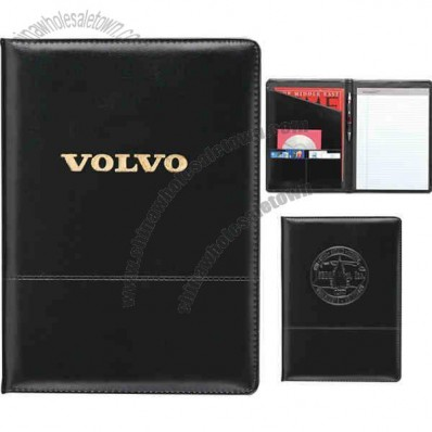 Script - Padfolio Made Of Vinyl And Sponge Pvc With Horizontal Stitched Design On Front
