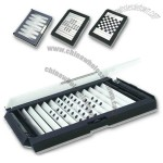 Scrolling 3-in-1 Game Book chess, solitaire and backgammon