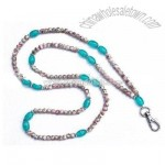 Sea Glass Beaded Lanyard