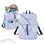 Seaside Rucksack - Blue Stripes