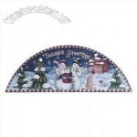 Season's Greetings Snowman Door Crown Xmas