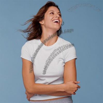 Semi-Sheer Crewneck Logo T-Shirt - Women's - White