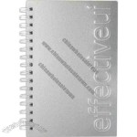 Seminar pad journal with aluminum alloy cover and 100 sheets of paper, 5.5