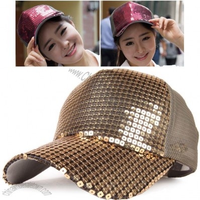 Sequined Baseball Cap