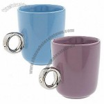 Set of 2 Girl's Best Friend Diamond Ring Ceramic Mugs