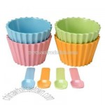 Set of 4 Ice Cream Cups with Spoons