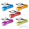 Set of 5 Super Bright 9 LED Flashlights W/Glow Rings