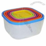 Set of 7 Square Plastic Food Storage Set