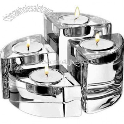 Set of four votive holders