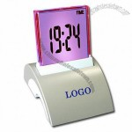 Seven Color Backlight LCD Clock Calendar Thermometer