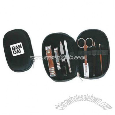 Seven piece travelers manicure sets