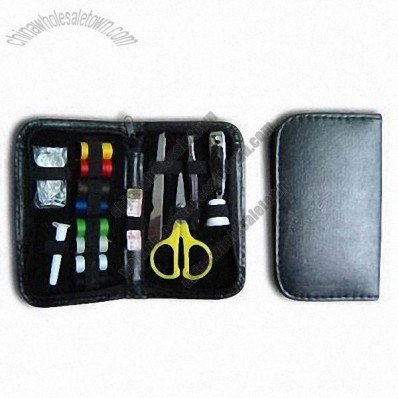 Sewing Kit Set, Composed of Box, Steel File, Pin, Needle and Threads