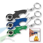 Shark Shaped Bottle Opener with Keychain LED Light