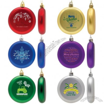 Shatter Resistant Flat Round Ornament