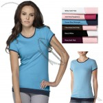 Sheer 2-in-1 Jersey Logo T-Shirt for Women's