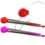 Shell Design Silicone Spaghetti Serving Tongs