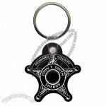 Sheriff Badge Soft Vinyl Key Tag