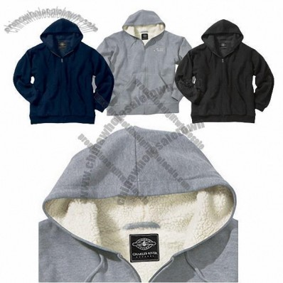 Sherpa Fleece Hooded Custom Sweatshirt
