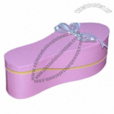 Shoe Candy Box in Fashionable Design with a Ribbon Bow on Top
