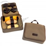 Shoe Shine Kit in Ultra Suede Zipper Case