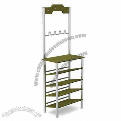 Shoes/Dress Rack with Adjustable Shelves