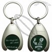 Shopping Coin Holder Keyring