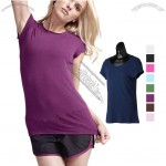 Short-Sleeve Bamboo Logo T-Shirt for Women's