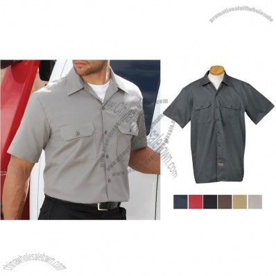 Short Sleeve Custom Printed Work Shirt