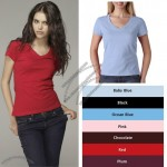 Short-Sleeve V-Neck Logo T-Shirt - Women's - Colors