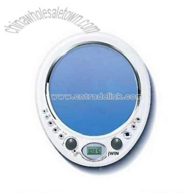 Shower AM/FM Radio with Mirror