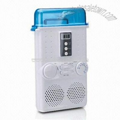Shower Stereo Media Player with Clock and Built-in Antenna