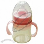 Silicone Baby Feeding Bottle with Double Handle