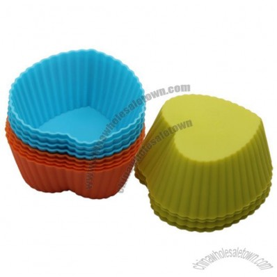 Silicone Cake Cup, Heart Shaped Muffin Cup