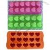 Silicone Cake Mold Mould Muffin Cups Cake Pan Soap Ice Chocolate Mold 12-Hearts Mold