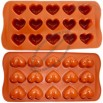 Silicone Cake Mold Mould Muffin Cups Cake Pan Soap Ice Chocolate Mold 15-Hearts Mold