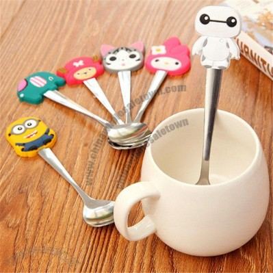 Silicone Cartoon Handle Stainless Steel Spoon