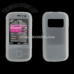 Silicone Case Cover for Nokia N85 Clear White
