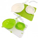 Silicone Colander And Cutting Board Set