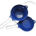 Silicone Collapsible Colander With S/S Handle