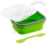 Silicone Collapsible Lunch Box with Ford Spoon