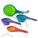 Silicone Collapsible Measuring Cups Set