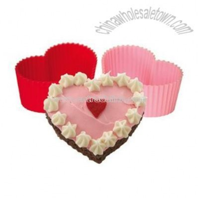 Silicone Heart Cupcake Molds 8-pc Set