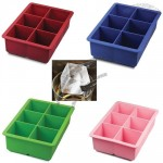 "Silicone King Ice Cube Tray - Makes Six 2"" Cubes"