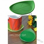 Silicone Leaf Shaped Coaster Cup Mat